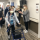 The Vibra Rehabilitation Hospital of Denver staff celebrate Natalie Garrett's discharge to home