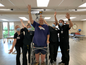 Rick Distler exceeded expectations while recovering from a spinal cord injury at Vibra Rehabilitation Hospital of Denver